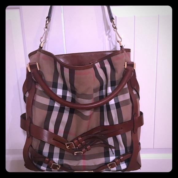 22e716b5c461 Burberry Handbags - Burberry bridle house check hobo bag